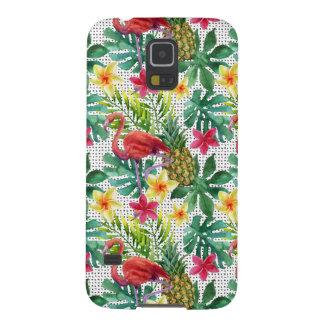 Coque Pour Samsung Galaxy S5 Aquarelle tropicale