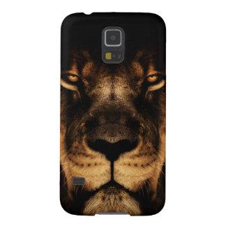 Coque Pour Samsung Galaxy S5 Art africain de visage de lion