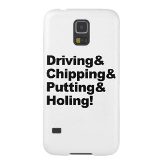 Coque Pour Samsung Galaxy S5 Driving&Chipping&Putting&Holing (noir)