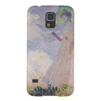 Coque Pour Samsung Galaxy S5 Femme de Claude Monet | avec le parasol tourné