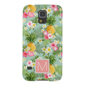 Coque Pour Samsung Galaxy S5 Les fleurs et les ananas tropicaux | ajoutent
