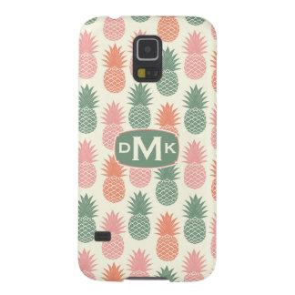 Coque Pour Samsung Galaxy S5 Monogramme vintage du motif   d'ananas