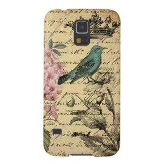 Coque Pour Samsung Galaxy S5 Oiseau botanique de Français d'hortensia d'art de