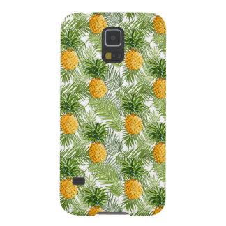 Coque Pour Samsung Galaxy S5 Palmettes et ananas tropicaux