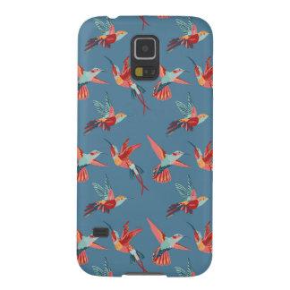 Coque Pour Samsung Galaxy S5 Rétro motif de colibri