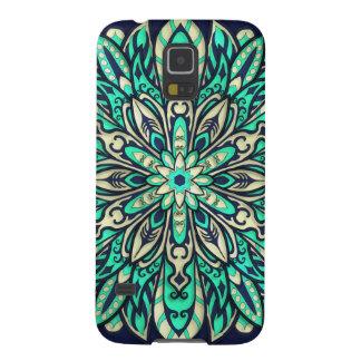 Coque Pour Samsung Galaxy S5 Sarcelle d'hiver géométrique tribale et mandala
