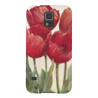 Coque Pour Samsung Galaxy S5 Tulipes rouges