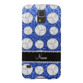 Coque Pour Samsung Galaxy S5 Volleyballs bleus nommés faits sur commande de