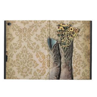 Coque Powis iPad Air 2 Bottes de cowboy de pays occidental de fleur