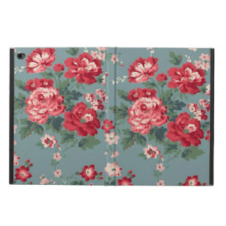 Coque Powis iPad Air 2 Caisse florale rouge de l'air 2 d'iPad sans