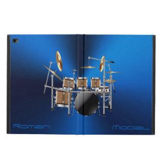 Coque Powis iPad Air 2 Caisse réglée d'air d'iPad de tambour en bois de