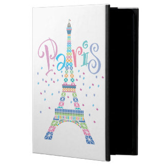 Coque Powis iPad Air 2 Cas air/Air2 d'iPad de confettis de Tour Eiffel