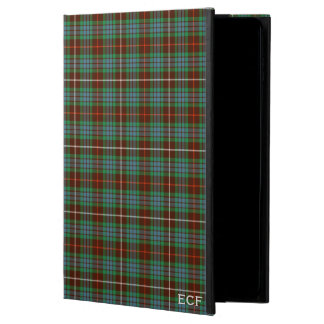 Coque Powis iPad Air 2 Clan Brown de Fraser et monogramme vert de tartan