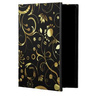 Coque Powis iPad Air 2 Damassés florales élégantes de sembler de noir et