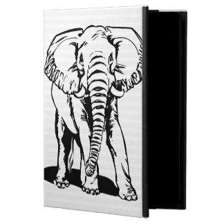 Coque Powis iPad Air 2 Dessin au trait noir mignon à la mode éléphant