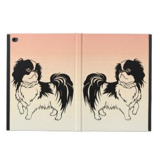 Coque Powis iPad Air 2 Deux chiens mignons sur la caisse orange de l'air