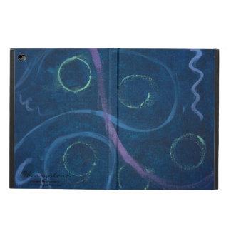 Coque Powis iPad Air 2 Griffonnage bleu en pastel de craie chic à la mode