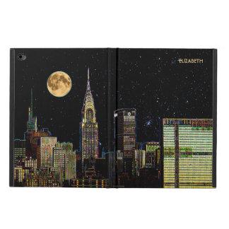 Coque Powis iPad Air 2 Horizon de New York la nuit avec la pleine lune