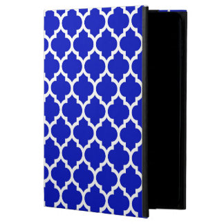 Coque Powis iPad Air 2 Motif blanc #5 de Quatrefoil de Marocain de bleu
