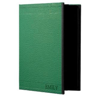 Coque Powis iPad Air 2 Texture simili cuir de Fox de vert élégant