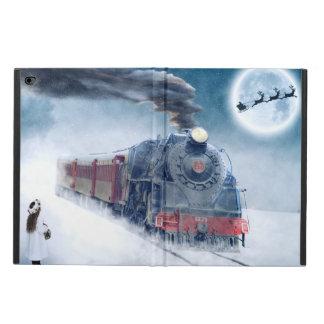 Coque Powis iPad Air 2 Train de minuit de Noël avec la fille et le Père