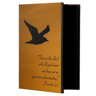 Coque Powis iPad Air 2 Vers jaune de bible de foi d'oiseau de ciel de