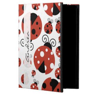 Coque Powis iPad Air 2 Votre nom - coccinelles, coccinelles - noir rouge