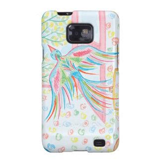 """Coque Samsung Galaxy S2 Aquarelle """"ouvrez la cage aux oiseaux"""""""
