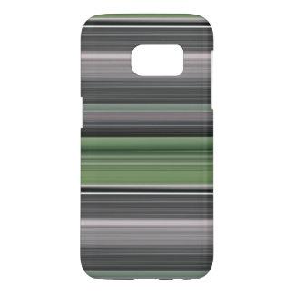 Coque Samsung Galaxy S7 #1 abstrait : Vert olive et gris