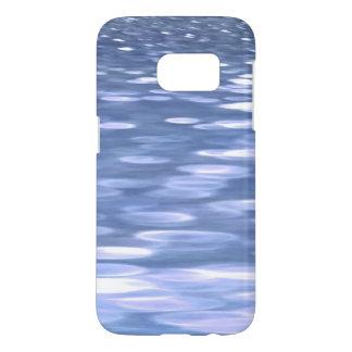 Coque Samsung Galaxy S7 #3 abstrait : Miroitement de bleu de poudre
