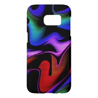 Coque Samsung Galaxy S7 abstraction chaude avec les lignes 2