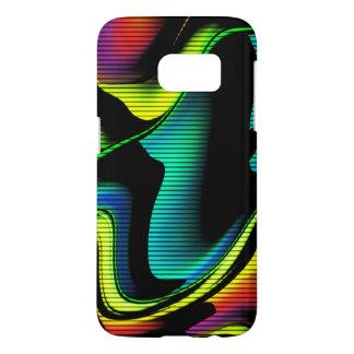 Coque Samsung Galaxy S7 abstraction chaude avec les lignes 4