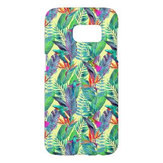 Coque Samsung Galaxy S7 Aquarelle Humminbirds dans la jungle