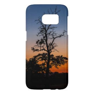 Coque Samsung Galaxy S7 Arbre sur un arrière - plan de coucher du soleil