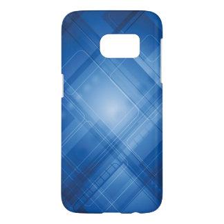 Coque Samsung Galaxy S7 Arrière - plan de pointe bleu-foncé