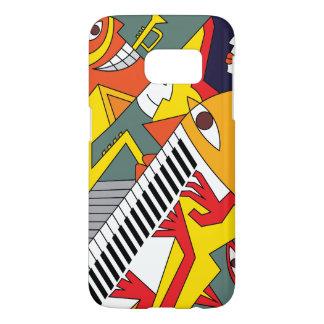Coque Samsung Galaxy S7 Art abstrait de jazz d'amusement