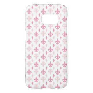Coque Samsung Galaxy S7 Assez Pink Fleur de Lis Pattern