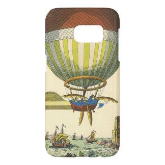 Coque Samsung Galaxy S7 Ballon à air chaud vintage de Steampunk de la
