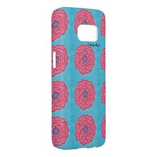 Coque Samsung Galaxy S7 bleus fleur-couverts