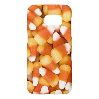 Coque Samsung Galaxy S7 Bonbons au maïs oranges blancs jaunes à Halloween