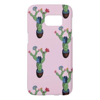 Coque Samsung Galaxy S7 Cactus épineux avec des fleurs