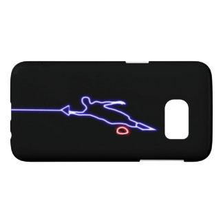 Coque Samsung Galaxy S7 Caisse bleue de la galaxie S7 de Samsung de skieur