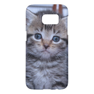 COQUE SAMSUNG GALAXY S7 CAISSE TIGRÉE DE GALAXIE DE CHATON DE BROWN