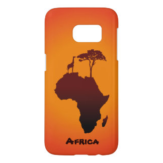 Coque Samsung Galaxy S7 Carte africaine de safari - caisse de galaxie de