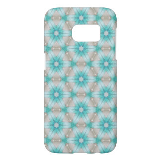 Coque Samsung Galaxy S7 Cas androïde de téléphone de fleur bleue