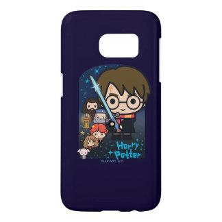 Coque Samsung Galaxy S7 Chambre de Harry Potter de bande dessinée des