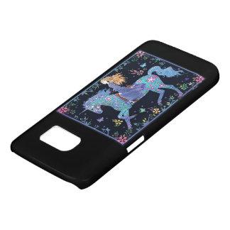 Coque Samsung Galaxy S7 Cheval et cavalier magiques