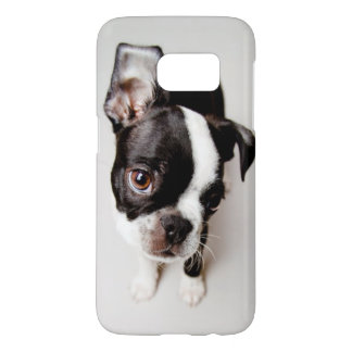 Coque Samsung Galaxy S7 Chiot d'Edison Boston Terrier