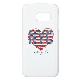 Coque Samsung Galaxy S7 Coeur de drapeau américain de NYC