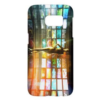 Coque Samsung Galaxy S7 Concept de technologies de médias comme mur visuel